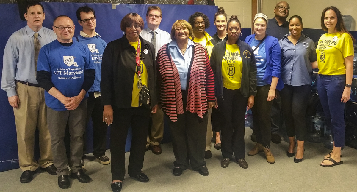 Lorretta Johnson with Baltimore Teacher Union members